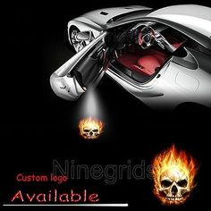 Pair Car Door Welcome LED Projector Ghost Rider Logo Laser Ghost Shadow Light