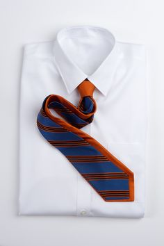 Narrow Repp Stripe - Black and Orange Nice Dresses, Menswear, Mens Fashion, Orange, My Love, Classic, Neckties, Men's Accessories, Career