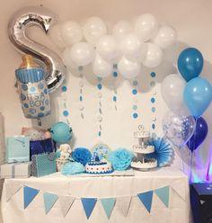 Baby shower simple setup  • • • • #balloondecor #babyshower #babyboy #themedparty #themedparties #decoration #babyshowerboy #babyshowerparty