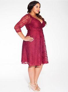 Francesca Lace Dress in Garnet