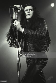 Ian Astbury of the Cult performs at the Ritz on June 2, 1987 in New...