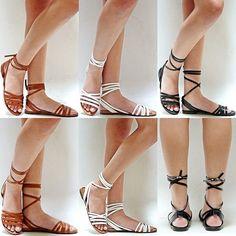 New Women BIN Black Tan White Beige Strappy Gladiator Wrap Lace Up Flat Sandals  #Unbranded #Gladiator