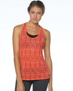 2015 Prana Activewear Luca Tank in Neon Orange at B-Fly Activewear: http://www.bflyactivewear.com