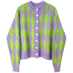 Aesthetic Clothing Stores, Aesthetic Clothes, 90s Aesthetic, Cardigan Sweaters For Women, Cheap Cardigans, Vintage Jumper, Kpop Fashion Outfits, Purple Sweater, Cute Casual Outfits