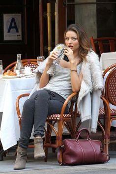 Miranda Kerr Fashion Style. She even makes trackies look good