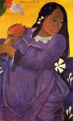 Paul Gauguin, Woman with a Mango, 1892