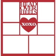 Head Over Heels XOXO 12 x 12 Overlay Laser Die Cut ($4.50) ❤ liked on Polyvore