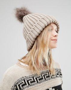 d8a8e9b6e64 New Look Faux Fur Pom Bobble Hat