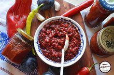 Adjica cu prune Chili, Cherry, Fruit, Food, Marmalade, Preserves, Chile, Chilis, Eten