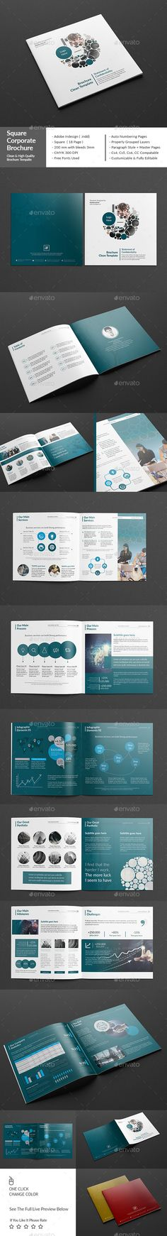 Square Corporate Brochure 18 Page Template PSD #design Download: http://graphicriver.net/item/square-corporate-brochure-18-page/14145298?ref=ksioks