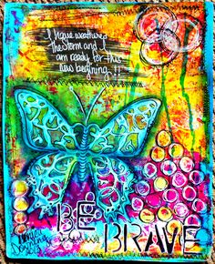 Gelli Print Journal page...New beginning...
