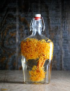 Dia de Los Muertos – Marigold Infused Tequila, tequila is infused with dried marigolds, cempasuchil the flower used to celebrate Dia de Los Muertos.