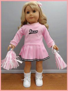 american girl doll cheerleader | Pink Pleated Cheerleader Uniform, fits American Girl, Goez and Corelle