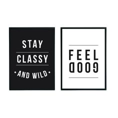 2 in 1 poster Stay classy | Feel good | Villa Madelief