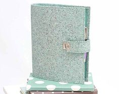 Check out our ring binder selection for the very best in unique or custom, handmade pieces from our shops. A5 Ring Binder, Filofax, Organizers, Mint, Turquoise, Handmade, Leather, Etsy, Hand Made