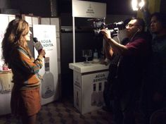 Director Patricia Chica being interviewed during the 5th Oaxaca International Film Festival (2014)