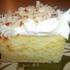 Coconut Cream Cheese Sheet Cake @keyingredient #cake #cheese #recipes
