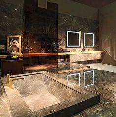 marblebathtub - Yahoo Image Search Results Contemporary Interior Design, Modern Bathroom Design, Bathroom Interior Design, Decor Interior Design, Interior Decorating, Bathroom Designs, Bath Design, Modern Design, Marble Bathtub