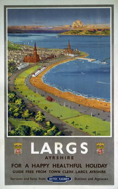 Ayr 2 Illustrated Guide Free From Town Clerk Poster Advert Lady on Beach Photo