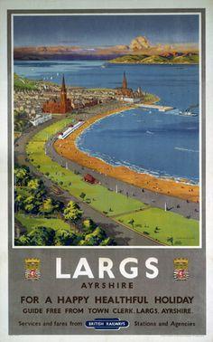 Scotland - Largs, BR poster, c 1950s.