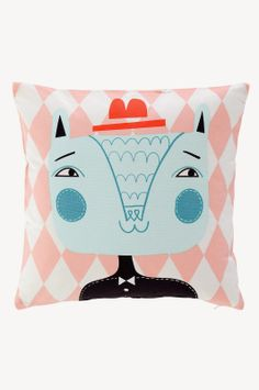 cute graphic pillow