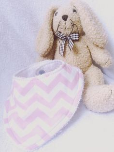 A personal favourite from my Etsy shop (null) Towel Girl, Bandana Bib, Baby Bibs, Chevron, My Etsy Shop, Teddy Bear, Easter, Trending Outfits, Toys