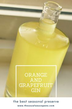 The gin to make in the winter when citrus fruits are ripe - orange and grapefruit gin is different to many of the super sweet orange gins, the grapefruit gives it a tangier edge that is simply irresistible.