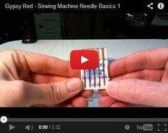Sewing Machine Needle Basics #sewing