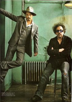 Tim Burton (one of my FAVORITE director/writer/producer) with Johnny Depp.
