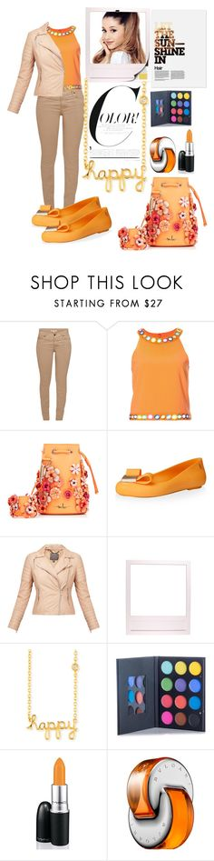 """Let the sun shine"" by fashionko ❤ liked on Polyvore featuring Barbour, Moschino, Marina Hoermanseder, Melissa, MuuBaa, Sydney Evan, MAC Cosmetics and Bulgari"