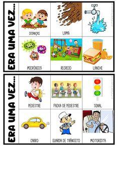 FICHAS PARA PRODUÇÃO DE TEXTO Idioms, Professor, Crafts For Kids, Teaching, Activities, Comics, Children, Thomas Jefferson, Montessori