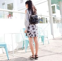 Hi Tie Dye Skirt!  #tiedye #style #street #style