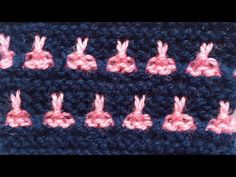 Wave and Butterfly Knitting - YouTube