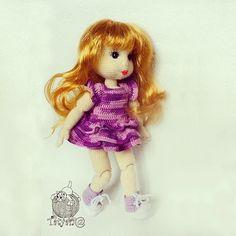 """Новый он-лайн на ami.guru Кукла-шарнирка! Автор  Tatyan@ #weamiguru #амигуруми #вязание #игрушки_крючком #игрушки #кукла #ручнаяработа"""