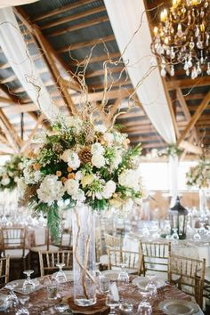 rustic wedding reception idea; photo: Ryan Price Photography