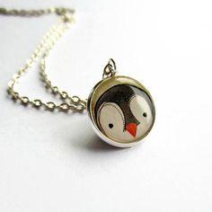 Cute Penguin Necklace  Penguin Pendant  Penguin Jewelry Penguin Necklace, Cute Penguins, Zebras, Annie, Giraffe, Cow, Cute Animals, Super Cute, Etsy Shop