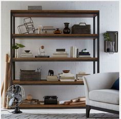 open backed shelving system