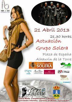 21 de abril. Actuación de Grupo Solera