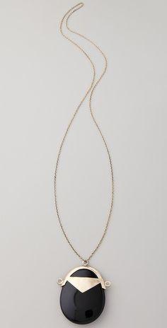 Low Luv x Erin Wasson Black Jade Pendant Necklace
