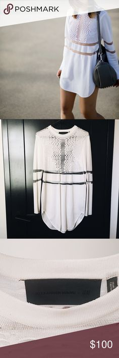 Alexander Wang x H&M Perforated Top/Dress Size SMALL Can be worn as a dress or a top  NO OFFERS - NO TRADES Alexander Wang Other