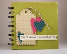 Sprinkled With Glitter: Don't Sweat The Small Stuff Journal-My Pink Stamper Pinkalicious Blog Hop & A Giveaway
