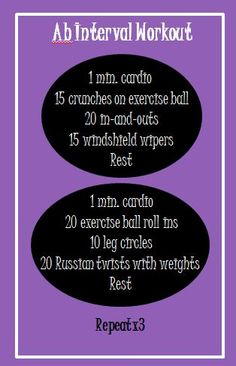 Ab interval workout via Levels