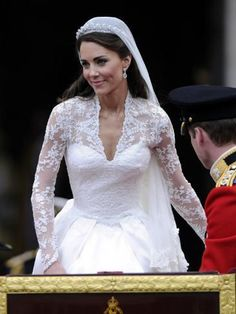 Dream Wedding Dresses Garden Wedding Cheap Wedding Decorations Latest Lace Gown Styles 2019 For Ladies Plus Size Wedding Guest Attire Bridal Wear Lehenga Grey Ring Bearer Outfit Making A Wedding Dress, Dream Wedding Dresses, Long Sleeve Wedding, Wedding Dress Sleeves, 1920s Dresses For Sale, Kate Middleton Wedding Dress, Princesse Kate Middleton, Kate Middleton Queen, White Satin Dress