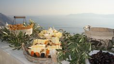 Nice & Greek Wedding Welcome Buffet at Pantheon Villas Santorini