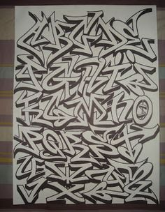 Blackbook Alphabet Graffiti Letters ♥°˚˚˚˚°♥ plate graffiti - Art World Grafitti Alphabet, Graffiti Alphabet Styles, Graffiti Lettering Alphabet, Graffiti Writing, Graffiti Tagging, Graffiti Styles, Graffiti Pictures, Alphabet Letters, Graffiti Wild Style