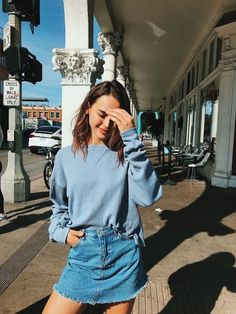 Shared by . Find images and videos about clothes, fashion and outfit on We Heart It - the app to get lost in what you love. Mode Outfits, Casual Outfits, Fashion Outfits, Womens Fashion, Fashion Trends, Skirt Fashion, Casual Skirts, Fashion Fall, Fashion Bloggers