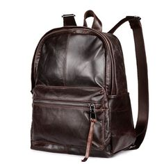 Cheap double shoulder bag, Buy Quality bag mochila directly from China mochila escolar Suppliers: cowhide genuine leather man bags vintage double shoulder bag mochila escolar school Laptop bag male travel luggage bag Vintage Bags, Vintage Men, Vintage Style, Brown Backpacks, Women's Backpacks, Leather Backpacks, Leather Backpack For Men, Laptop Shoulder Bag, Laptop Bag