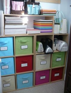 Home Sweet Home Inspiration: ClosetMaid Organizing Labels. Use Velcro  Circles To Attach Labels To. Fabric Storage BinsStorage ...