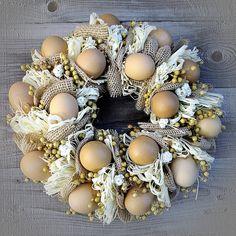 Egg Crafts, Hanukkah, Easter, Wreaths, Diy, Eggs, Decor, Crown Cake, Decoration