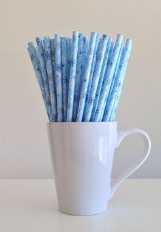 Flocon de neige papier paille hiver gelé Party Supplies parti Decor Bar chariot accessoires gâteau Pop bâtons Mason Jar pailles